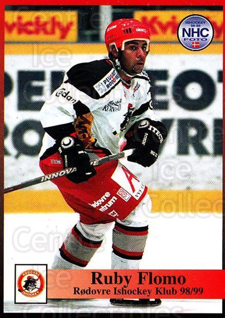 1998-99 Danish Hockey League #210 Ruby Flomo<br/>1 In Stock - $3.00 each - <a href=https://centericecollectibles.foxycart.com/cart?name=1998-99%20Danish%20Hockey%20League%20%23210%20Ruby%20Flomo...&quantity_max=1&price=$3.00&code=725307 class=foxycart> Buy it now! </a>