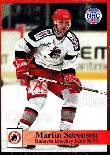 1998-99 Danish Hockey League #214 Martin Sorensen<br/>1 In Stock - $3.00 each - <a href=https://centericecollectibles.foxycart.com/cart?name=1998-99%20Danish%20Hockey%20League%20%23214%20Martin%20Sorensen...&quantity_max=1&price=$3.00&code=725311 class=foxycart> Buy it now! </a>