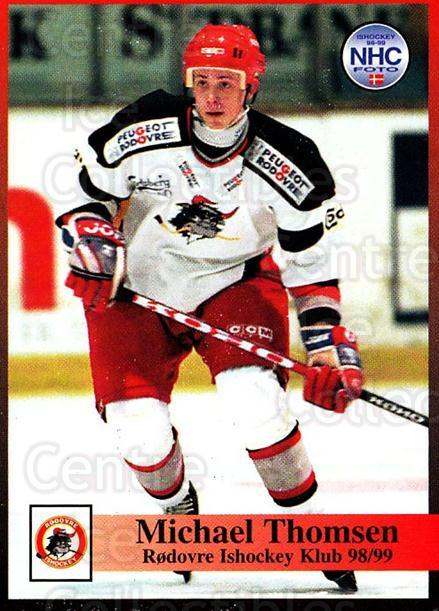 1998-99 Danish Hockey League #220 Michael Thomsen<br/>1 In Stock - $3.00 each - <a href=https://centericecollectibles.foxycart.com/cart?name=1998-99%20Danish%20Hockey%20League%20%23220%20Michael%20Thomsen...&quantity_max=1&price=$3.00&code=725317 class=foxycart> Buy it now! </a>