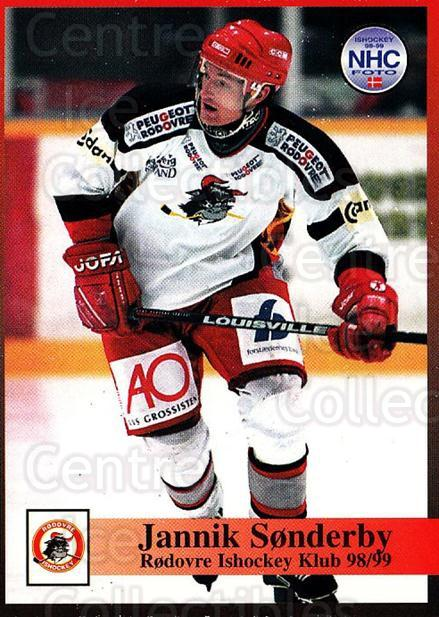 1998-99 Danish Hockey League #224 Jannik Sonderby<br/>1 In Stock - $3.00 each - <a href=https://centericecollectibles.foxycart.com/cart?name=1998-99%20Danish%20Hockey%20League%20%23224%20Jannik%20Sonderby...&quantity_max=1&price=$3.00&code=725321 class=foxycart> Buy it now! </a>