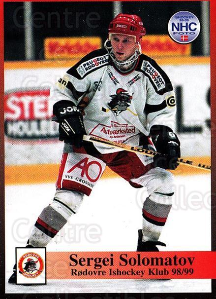 1998-99 Danish Hockey League #225 Sergei Solomatov<br/>1 In Stock - $3.00 each - <a href=https://centericecollectibles.foxycart.com/cart?name=1998-99%20Danish%20Hockey%20League%20%23225%20Sergei%20Solomato...&quantity_max=1&price=$3.00&code=725322 class=foxycart> Buy it now! </a>