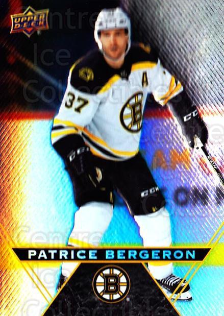 2018-19 Tim Hortons #37 Patrice Bergeron<br/>7 In Stock - $2.00 each - <a href=https://centericecollectibles.foxycart.com/cart?name=2018-19%20Tim%20Hortons%20%2337%20Patrice%20Bergero...&quantity_max=7&price=$2.00&code=725373 class=foxycart> Buy it now! </a>