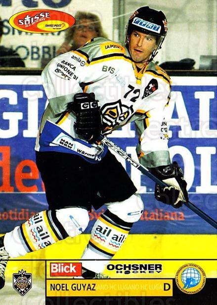 2003-04 Swiss Ice Hockey Cards #6 Noel Guyaz<br/>2 In Stock - $2.00 each - <a href=https://centericecollectibles.foxycart.com/cart?name=2003-04%20Swiss%20Ice%20Hockey%20Cards%20%236%20Noel%20Guyaz...&quantity_max=2&price=$2.00&code=725714 class=foxycart> Buy it now! </a>