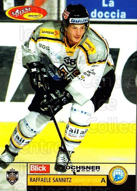 2003-04 Swiss Ice Hockey Cards #24 Raffaele Sannitz<br/>2 In Stock - $2.00 each - <a href=https://centericecollectibles.foxycart.com/cart?name=2003-04%20Swiss%20Ice%20Hockey%20Cards%20%2324%20Raffaele%20Sannit...&quantity_max=2&price=$2.00&code=725732 class=foxycart> Buy it now! </a>