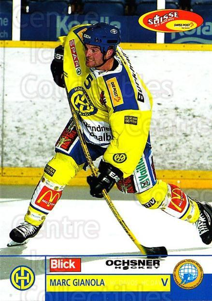 2003-04 Swiss Ice Hockey Cards #32 Marc Gianola<br/>2 In Stock - $2.00 each - <a href=https://centericecollectibles.foxycart.com/cart?name=2003-04%20Swiss%20Ice%20Hockey%20Cards%20%2332%20Marc%20Gianola...&quantity_max=2&price=$2.00&code=725740 class=foxycart> Buy it now! </a>