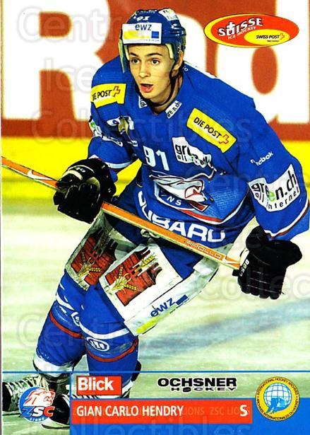 2003-04 Swiss Ice Hockey Cards #66 Gian Carlo Hendry<br/>2 In Stock - $2.00 each - <a href=https://centericecollectibles.foxycart.com/cart?name=2003-04%20Swiss%20Ice%20Hockey%20Cards%20%2366%20Gian%20Carlo%20Hend...&quantity_max=2&price=$2.00&code=725774 class=foxycart> Buy it now! </a>