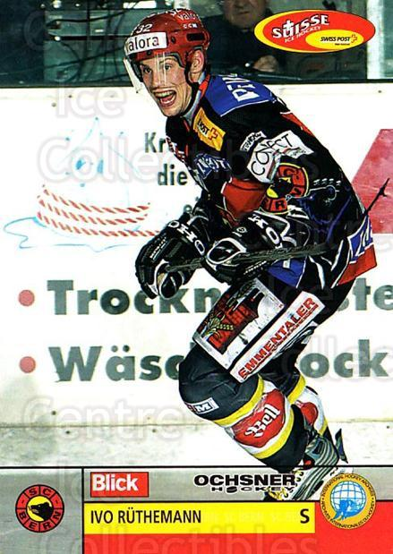 2003-04 Swiss Ice Hockey Cards #94 Ivo Ruthemann<br/>2 In Stock - $2.00 each - <a href=https://centericecollectibles.foxycart.com/cart?name=2003-04%20Swiss%20Ice%20Hockey%20Cards%20%2394%20Ivo%20Ruthemann...&quantity_max=2&price=$2.00&code=725802 class=foxycart> Buy it now! </a>