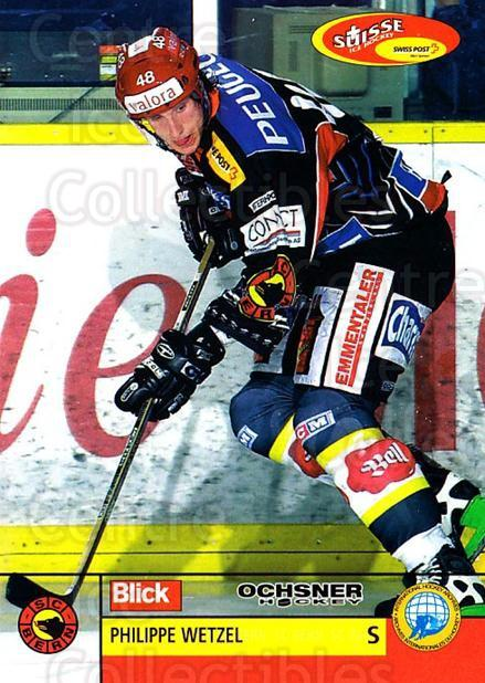 2003-04 Swiss Ice Hockey Cards #99 Philippe Wetzel<br/>2 In Stock - $2.00 each - <a href=https://centericecollectibles.foxycart.com/cart?name=2003-04%20Swiss%20Ice%20Hockey%20Cards%20%2399%20Philippe%20Wetzel...&quantity_max=2&price=$2.00&code=725807 class=foxycart> Buy it now! </a>