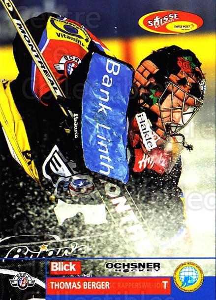 2003-04 Swiss Ice Hockey Cards #102 Thomas Berger<br/>2 In Stock - $2.00 each - <a href=https://centericecollectibles.foxycart.com/cart?name=2003-04%20Swiss%20Ice%20Hockey%20Cards%20%23102%20Thomas%20Berger...&quantity_max=2&price=$2.00&code=725810 class=foxycart> Buy it now! </a>