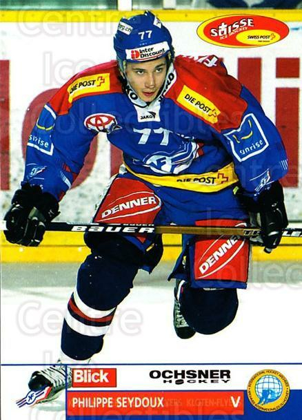 2003-04 Swiss Ice Hockey Cards #154 Philippe Seydoux<br/>2 In Stock - $2.00 each - <a href=https://centericecollectibles.foxycart.com/cart?name=2003-04%20Swiss%20Ice%20Hockey%20Cards%20%23154%20Philippe%20Seydou...&quantity_max=2&price=$2.00&code=725862 class=foxycart> Buy it now! </a>