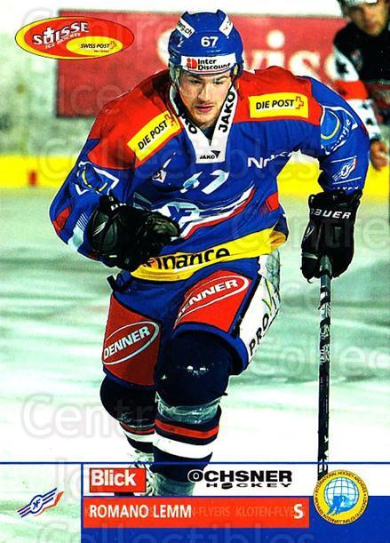 2003-04 Swiss Ice Hockey Cards #159 Romano Lemm<br/>1 In Stock - $2.00 each - <a href=https://centericecollectibles.foxycart.com/cart?name=2003-04%20Swiss%20Ice%20Hockey%20Cards%20%23159%20Romano%20Lemm...&quantity_max=1&price=$2.00&code=725867 class=foxycart> Buy it now! </a>