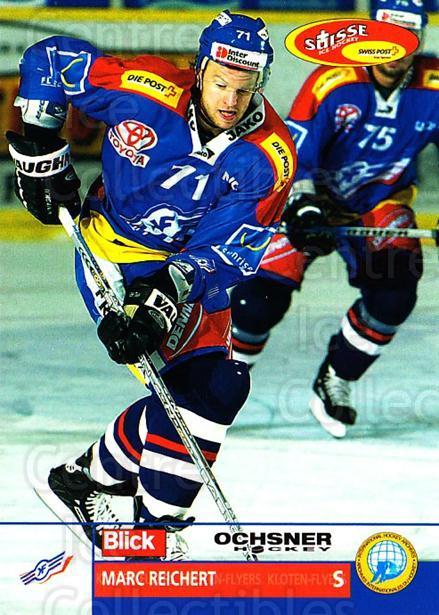 2003-04 Swiss Ice Hockey Cards #163 Marc Reichert<br/>2 In Stock - $2.00 each - <a href=https://centericecollectibles.foxycart.com/cart?name=2003-04%20Swiss%20Ice%20Hockey%20Cards%20%23163%20Marc%20Reichert...&quantity_max=2&price=$2.00&code=725871 class=foxycart> Buy it now! </a>