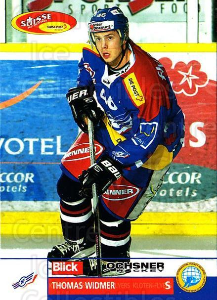 2003-04 Swiss Ice Hockey Cards #166 Thomas Widmer<br/>2 In Stock - $2.00 each - <a href=https://centericecollectibles.foxycart.com/cart?name=2003-04%20Swiss%20Ice%20Hockey%20Cards%20%23166%20Thomas%20Widmer...&quantity_max=2&price=$2.00&code=725874 class=foxycart> Buy it now! </a>