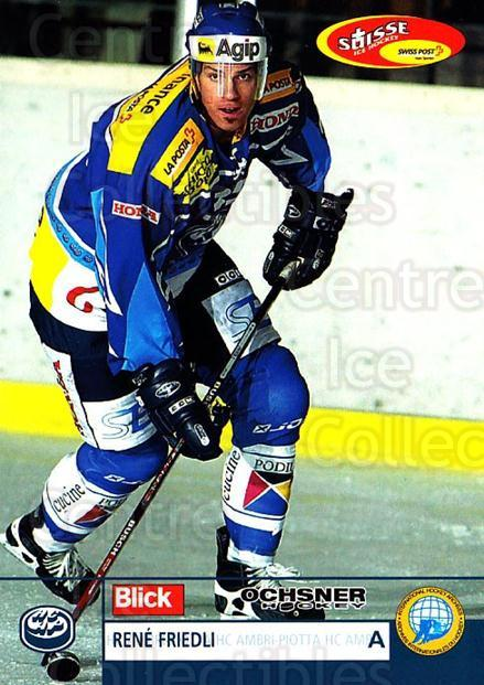 2003-04 Swiss Ice Hockey Cards #182 Rene Friedli<br/>2 In Stock - $2.00 each - <a href=https://centericecollectibles.foxycart.com/cart?name=2003-04%20Swiss%20Ice%20Hockey%20Cards%20%23182%20Rene%20Friedli...&quantity_max=2&price=$2.00&code=725890 class=foxycart> Buy it now! </a>