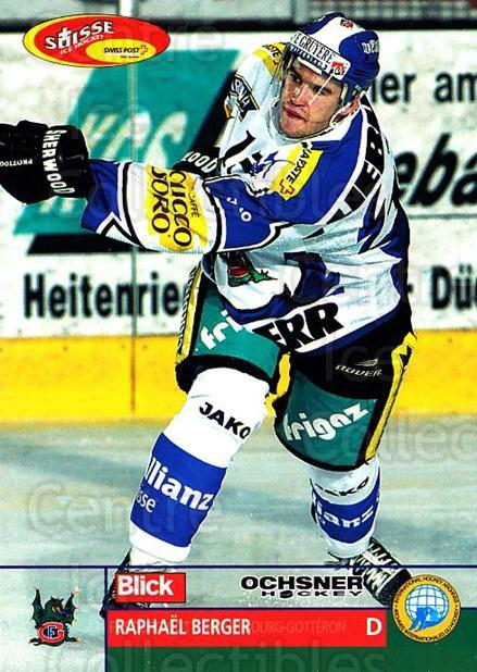 2003-04 Swiss Ice Hockey Cards #191 Raphael Berger<br/>2 In Stock - $2.00 each - <a href=https://centericecollectibles.foxycart.com/cart?name=2003-04%20Swiss%20Ice%20Hockey%20Cards%20%23191%20Raphael%20Berger...&quantity_max=2&price=$2.00&code=725899 class=foxycart> Buy it now! </a>