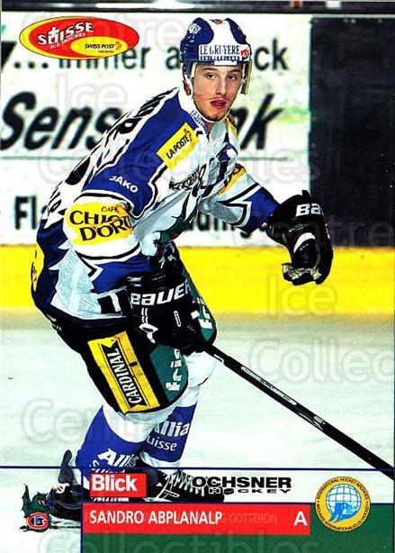 2003-04 Swiss Ice Hockey Cards #198 Sandro Abplanalp<br/>2 In Stock - $2.00 each - <a href=https://centericecollectibles.foxycart.com/cart?name=2003-04%20Swiss%20Ice%20Hockey%20Cards%20%23198%20Sandro%20Abplanal...&quantity_max=2&price=$2.00&code=725906 class=foxycart> Buy it now! </a>
