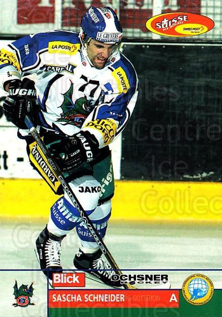 2003-04 Swiss Ice Hockey Cards #206 Sascha Schneider<br/>2 In Stock - $2.00 each - <a href=https://centericecollectibles.foxycart.com/cart?name=2003-04%20Swiss%20Ice%20Hockey%20Cards%20%23206%20Sascha%20Schneide...&quantity_max=2&price=$2.00&code=725914 class=foxycart> Buy it now! </a>