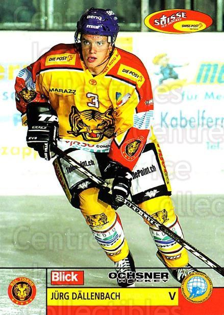 2003-04 Swiss Ice Hockey Cards #237 Jurg Dallenbach<br/>2 In Stock - $2.00 each - <a href=https://centericecollectibles.foxycart.com/cart?name=2003-04%20Swiss%20Ice%20Hockey%20Cards%20%23237%20Jurg%20Dallenbach...&quantity_max=2&price=$2.00&code=725945 class=foxycart> Buy it now! </a>