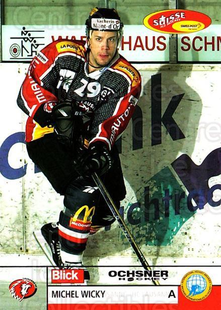2003-04 Swiss Ice Hockey Cards #275 Michel Wicky<br/>2 In Stock - $2.00 each - <a href=https://centericecollectibles.foxycart.com/cart?name=2003-04%20Swiss%20Ice%20Hockey%20Cards%20%23275%20Michel%20Wicky...&quantity_max=2&price=$2.00&code=725983 class=foxycart> Buy it now! </a>