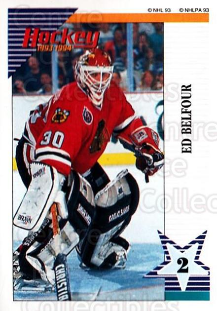 1993-94 Panini Stickers #140 Ed Belfour<br/>3 In Stock - $1.00 each - <a href=https://centericecollectibles.foxycart.com/cart?name=1993-94%20Panini%20Stickers%20%23140%20Ed%20Belfour...&price=$1.00&code=7259 class=foxycart> Buy it now! </a>
