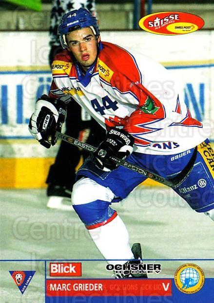 2003-04 Swiss Ice Hockey Cards #342 Marc Grieder<br/>2 In Stock - $2.00 each - <a href=https://centericecollectibles.foxycart.com/cart?name=2003-04%20Swiss%20Ice%20Hockey%20Cards%20%23342%20Marc%20Grieder...&quantity_max=2&price=$2.00&code=726050 class=foxycart> Buy it now! </a>