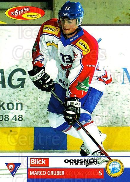 2003-04 Swiss Ice Hockey Cards #349 Marco Gruber<br/>2 In Stock - $2.00 each - <a href=https://centericecollectibles.foxycart.com/cart?name=2003-04%20Swiss%20Ice%20Hockey%20Cards%20%23349%20Marco%20Gruber...&quantity_max=2&price=$2.00&code=726057 class=foxycart> Buy it now! </a>