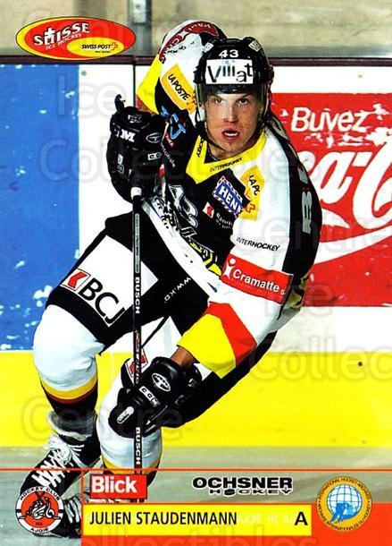 2003-04 Swiss Ice Hockey Cards #373 Julien Staudenmann<br/>1 In Stock - $2.00 each - <a href=https://centericecollectibles.foxycart.com/cart?name=2003-04%20Swiss%20Ice%20Hockey%20Cards%20%23373%20Julien%20Staudenm...&quantity_max=1&price=$2.00&code=726081 class=foxycart> Buy it now! </a>