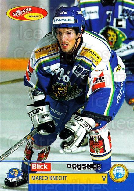 2003-04 Swiss Ice Hockey Cards #398 Marco Knecht<br/>2 In Stock - $2.00 each - <a href=https://centericecollectibles.foxycart.com/cart?name=2003-04%20Swiss%20Ice%20Hockey%20Cards%20%23398%20Marco%20Knecht...&quantity_max=2&price=$2.00&code=726106 class=foxycart> Buy it now! </a>
