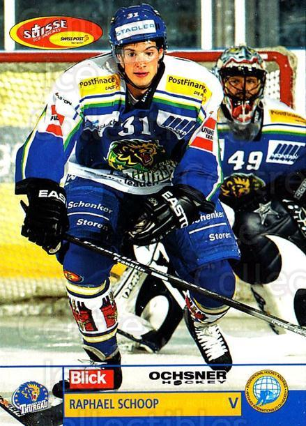 2003-04 Swiss Ice Hockey Cards #402 Raphael Schoop<br/>2 In Stock - $2.00 each - <a href=https://centericecollectibles.foxycart.com/cart?name=2003-04%20Swiss%20Ice%20Hockey%20Cards%20%23402%20Raphael%20Schoop...&quantity_max=2&price=$2.00&code=726110 class=foxycart> Buy it now! </a>
