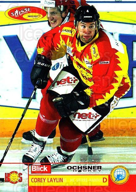 2003-04 Swiss Ice Hockey Cards #419 Corey Laylin<br/>2 In Stock - $2.00 each - <a href=https://centericecollectibles.foxycart.com/cart?name=2003-04%20Swiss%20Ice%20Hockey%20Cards%20%23419%20Corey%20Laylin...&quantity_max=2&price=$2.00&code=726127 class=foxycart> Buy it now! </a>