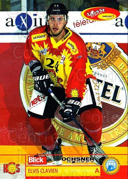 2003-04 Swiss Ice Hockey Cards #424 Elvis Clavien<br/>2 In Stock - $2.00 each - <a href=https://centericecollectibles.foxycart.com/cart?name=2003-04%20Swiss%20Ice%20Hockey%20Cards%20%23424%20Elvis%20Clavien...&quantity_max=2&price=$2.00&code=726132 class=foxycart> Buy it now! </a>