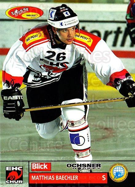 2003-04 Swiss Ice Hockey Cards #479 Matthias Baechler<br/>2 In Stock - $2.00 each - <a href=https://centericecollectibles.foxycart.com/cart?name=2003-04%20Swiss%20Ice%20Hockey%20Cards%20%23479%20Matthias%20Baechl...&price=$2.00&code=726187 class=foxycart> Buy it now! </a>