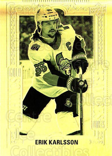 2018-19 Tim Hortons Gold Etchings #3 Erik Karlsson<br/>3 In Stock - $5.00 each - <a href=https://centericecollectibles.foxycart.com/cart?name=2018-19%20Tim%20Hortons%20Gold%20Etchings%20%233%20Erik%20Karlsson...&quantity_max=3&price=$5.00&code=726261 class=foxycart> Buy it now! </a>