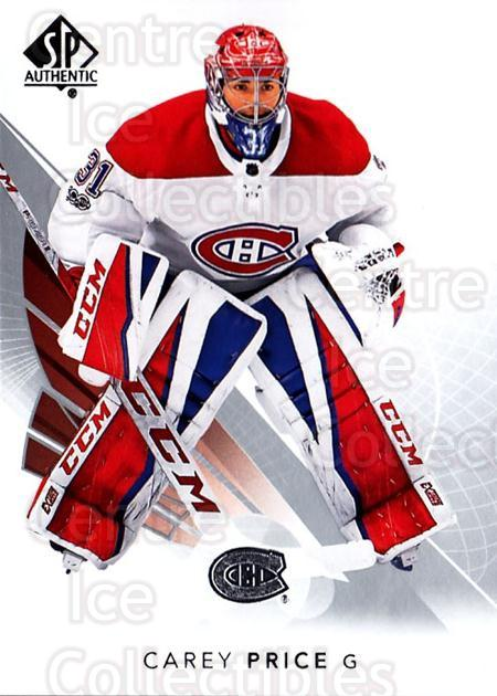 2017-18 SP Authentic #77 Carey Price<br/>1 In Stock - $3.00 each - <a href=https://centericecollectibles.foxycart.com/cart?name=2017-18%20SP%20Authentic%20%2377%20Carey%20Price...&quantity_max=1&price=$3.00&code=726417 class=foxycart> Buy it now! </a>