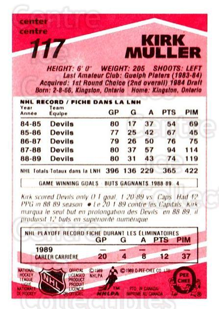 1989-90 O-Pee-Chee Tembec Test #117 Kirk Muller<br/>6 In Stock - $10.00 each - <a href=https://centericecollectibles.foxycart.com/cart?name=1989-90%20O-Pee-Chee%20Tembec%20Test%20%23117%20Kirk%20Muller...&quantity_max=6&price=$10.00&code=726614 class=foxycart> Buy it now! </a>
