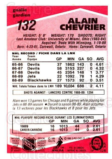 1989-90 O-Pee-Chee Tembec Test #132 Alain Chevrier<br/>4 In Stock - $10.00 each - <a href=https://centericecollectibles.foxycart.com/cart?name=1989-90%20O-Pee-Chee%20Tembec%20Test%20%23132%20Alain%20Chevrier...&quantity_max=4&price=$10.00&code=726624 class=foxycart> Buy it now! </a>