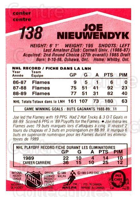 1989-90 O-Pee-Chee Tembec Test #138 Joe Nieuwendyk<br/>5 In Stock - $10.00 each - <a href=https://centericecollectibles.foxycart.com/cart?name=1989-90%20O-Pee-Chee%20Tembec%20Test%20%23138%20Joe%20Nieuwendyk...&quantity_max=5&price=$10.00&code=726627 class=foxycart> Buy it now! </a>