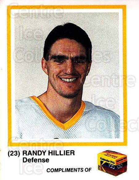 1986-87 Pittsburgh Penguins Kodak #11 Randy Hillier<br/>1 In Stock - $3.00 each - <a href=https://centericecollectibles.foxycart.com/cart?name=1986-87%20Pittsburgh%20Penguins%20Kodak%20%2311%20Randy%20Hillier...&quantity_max=1&price=$3.00&code=726675 class=foxycart> Buy it now! </a>
