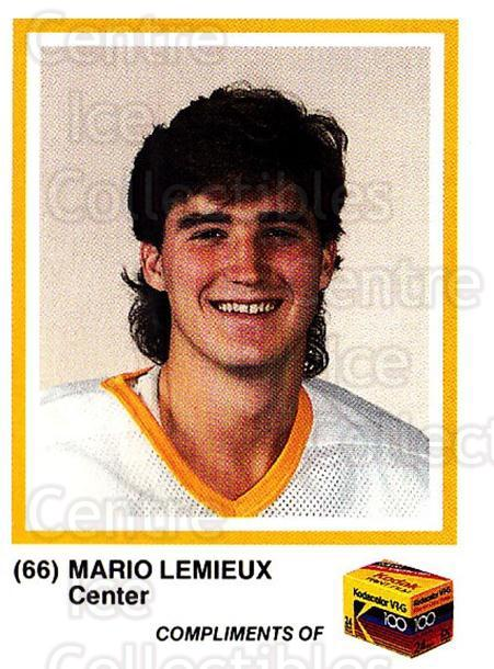 1986-87 Pittsburgh Penguins Kodak #14 Mario Lemieux<br/>1 In Stock - $25.00 each - <a href=https://centericecollectibles.foxycart.com/cart?name=1986-87%20Pittsburgh%20Penguins%20Kodak%20%2314%20Mario%20Lemieux...&quantity_max=1&price=$25.00&code=726678 class=foxycart> Buy it now! </a>
