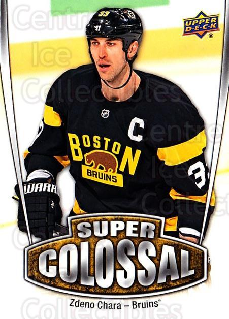 2016-17 Upper Deck Super Colossal #18 Zdeno Chara<br/>1 In Stock - $3.00 each - <a href=https://centericecollectibles.foxycart.com/cart?name=2016-17%20Upper%20Deck%20Super%20Colossal%20%2318%20Zdeno%20Chara...&quantity_max=1&price=$3.00&code=726707 class=foxycart> Buy it now! </a>