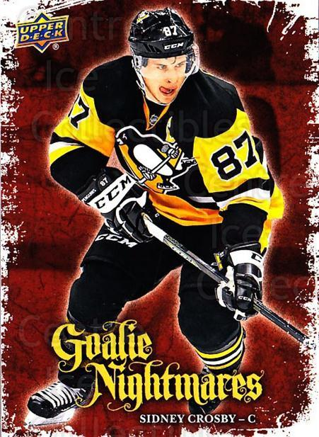 2016-17 Upper Deck Goalie Nightmares #23 Sidney Crosby<br/>2 In Stock - $10.00 each - <a href=https://centericecollectibles.foxycart.com/cart?name=2016-17%20Upper%20Deck%20Goalie%20Nightmares%20%2323%20Sidney%20Crosby...&quantity_max=2&price=$10.00&code=726732 class=foxycart> Buy it now! </a>