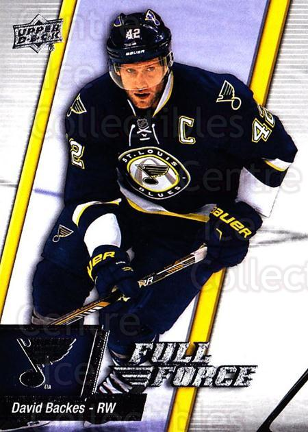 2015-16 Upper Deck Full Force #22 David Backes<br/>2 In Stock - $1.00 each - <a href=https://centericecollectibles.foxycart.com/cart?name=2015-16%20Upper%20Deck%20Full%20Force%20%2322%20David%20Backes...&quantity_max=2&price=$1.00&code=726761 class=foxycart> Buy it now! </a>
