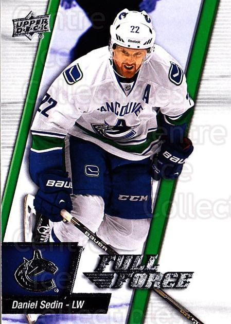 2015-16 Upper Deck Full Force #46 Daniel Sedin<br/>2 In Stock - $1.00 each - <a href=https://centericecollectibles.foxycart.com/cart?name=2015-16%20Upper%20Deck%20Full%20Force%20%2346%20Daniel%20Sedin...&quantity_max=2&price=$1.00&code=726785 class=foxycart> Buy it now! </a>