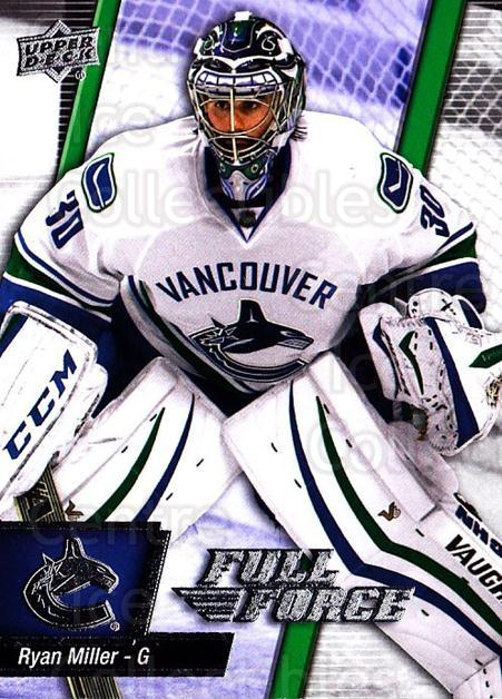 2015-16 Upper Deck Full Force #61 Ryan Miller<br/>2 In Stock - $1.00 each - <a href=https://centericecollectibles.foxycart.com/cart?name=2015-16%20Upper%20Deck%20Full%20Force%20%2361%20Ryan%20Miller...&quantity_max=2&price=$1.00&code=726800 class=foxycart> Buy it now! </a>