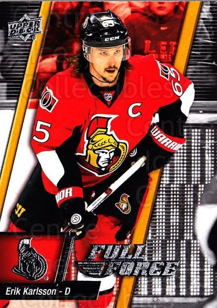 2015-16 Upper Deck Full Force #80 Erik Karlsson<br/>2 In Stock - $1.00 each - <a href=https://centericecollectibles.foxycart.com/cart?name=2015-16%20Upper%20Deck%20Full%20Force%20%2380%20Erik%20Karlsson...&quantity_max=2&price=$1.00&code=726819 class=foxycart> Buy it now! </a>
