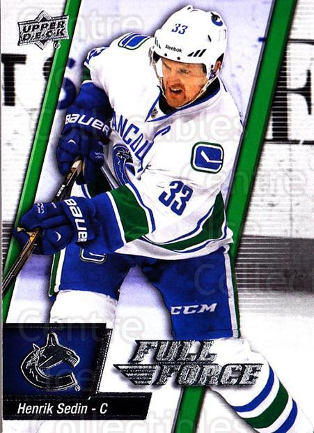 2015-16 Upper Deck Full Force #83 Henrik Sedin<br/>2 In Stock - $1.00 each - <a href=https://centericecollectibles.foxycart.com/cart?name=2015-16%20Upper%20Deck%20Full%20Force%20%2383%20Henrik%20Sedin...&quantity_max=2&price=$1.00&code=726822 class=foxycart> Buy it now! </a>