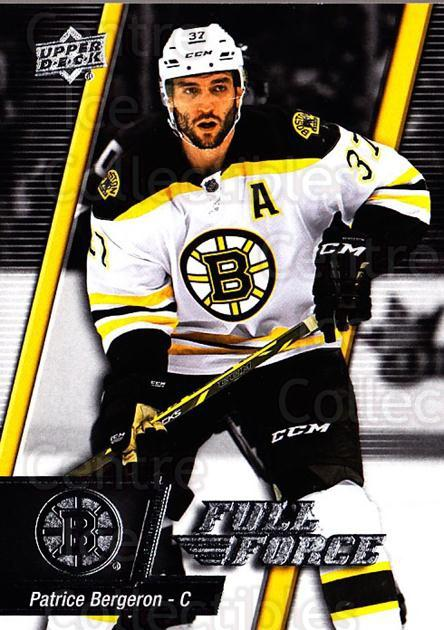 2015-16 Upper Deck Full Force #86 Patrice Bergeron<br/>2 In Stock - $2.00 each - <a href=https://centericecollectibles.foxycart.com/cart?name=2015-16%20Upper%20Deck%20Full%20Force%20%2386%20Patrice%20Bergero...&quantity_max=2&price=$2.00&code=726825 class=foxycart> Buy it now! </a>