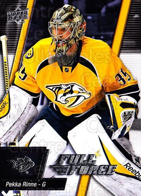 2015-16 Upper Deck Full Force #91 Pekka Rinne<br/>2 In Stock - $1.00 each - <a href=https://centericecollectibles.foxycart.com/cart?name=2015-16%20Upper%20Deck%20Full%20Force%20%2391%20Pekka%20Rinne...&quantity_max=2&price=$1.00&code=726830 class=foxycart> Buy it now! </a>