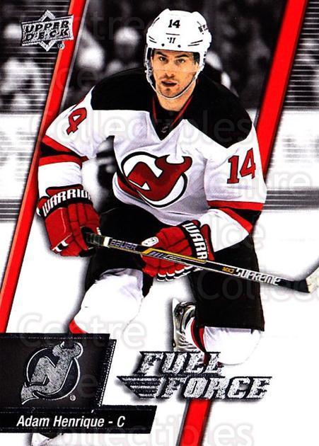 2015-16 Upper Deck Full Force #97 Adam Henrique<br/>2 In Stock - $1.00 each - <a href=https://centericecollectibles.foxycart.com/cart?name=2015-16%20Upper%20Deck%20Full%20Force%20%2397%20Adam%20Henrique...&quantity_max=2&price=$1.00&code=726836 class=foxycart> Buy it now! </a>
