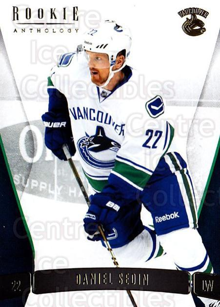 2011-12 Panini Rookie Anthology #5 Daniel Sedin<br/>1 In Stock - $1.00 each - <a href=https://centericecollectibles.foxycart.com/cart?name=2011-12%20Panini%20Rookie%20Anthology%20%235%20Daniel%20Sedin...&quantity_max=1&price=$1.00&code=726867 class=foxycart> Buy it now! </a>